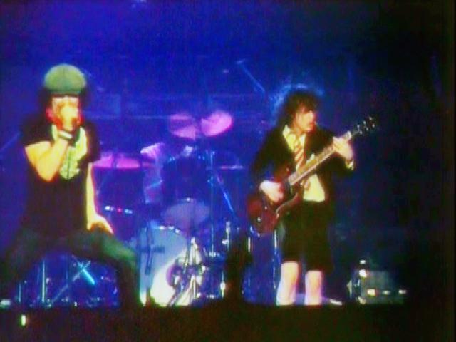 AC/DC 'Back in Black' concert tour. Landover Maryland, 1981