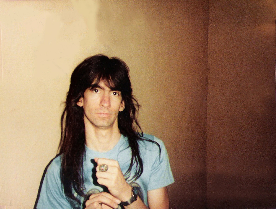 Garth Huels with cool shirt - Loft Studios Feb. 1984