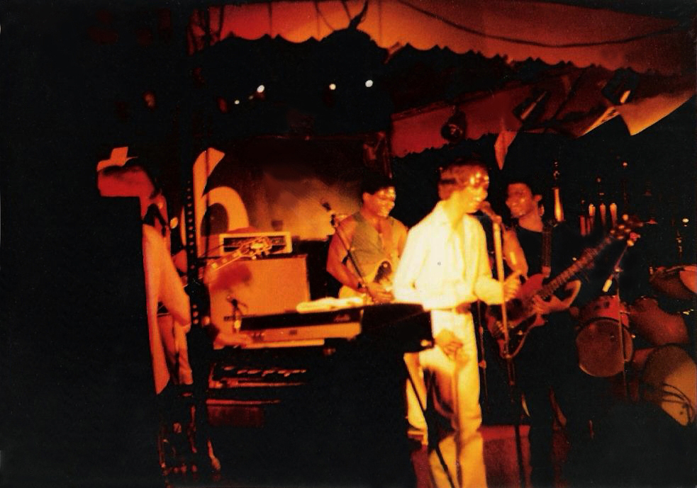 "Parousia performing the Alice Cooper song, ""Clones"" at the Plant 6, September 4 -5, 1981"