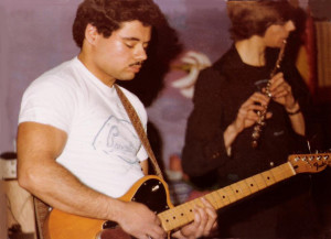 Barry Cannizzaro and his Fender Telecaster.  McVan's, Nov. 1978