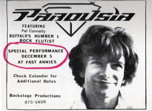 Backstage productions presents Parousia at Fast Annie's 12.05.1981