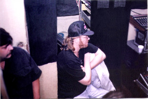 Russ (left) and Eric Scheda, studio engineer and former keyboardist for Parousia