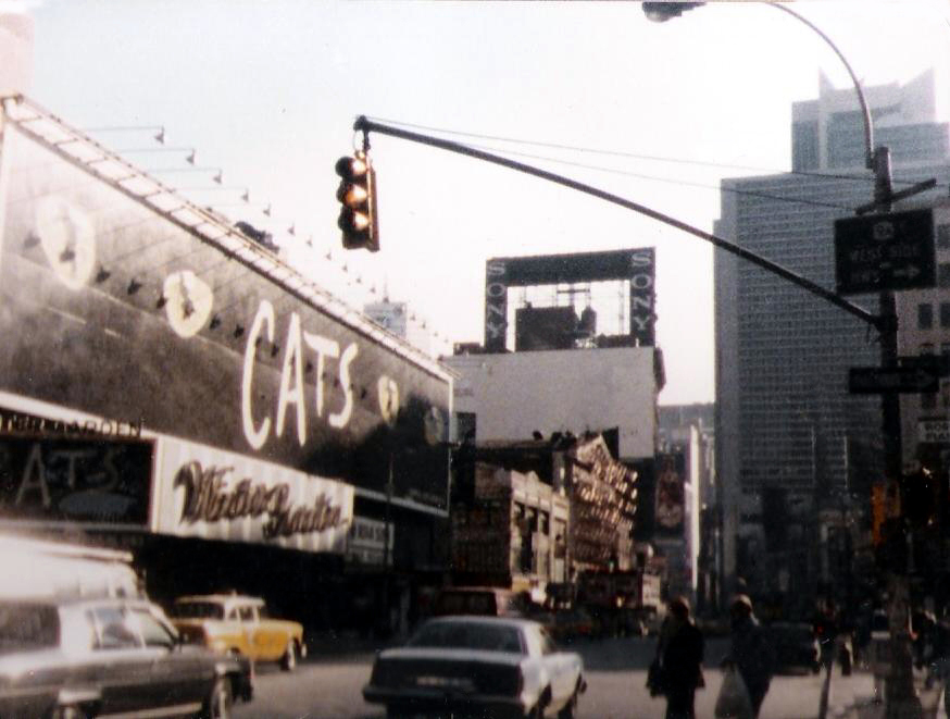 Times Square and the construction of the Sony Jumbo Tron