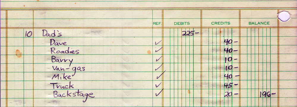 12.10.1981 Dad's - financial statement
