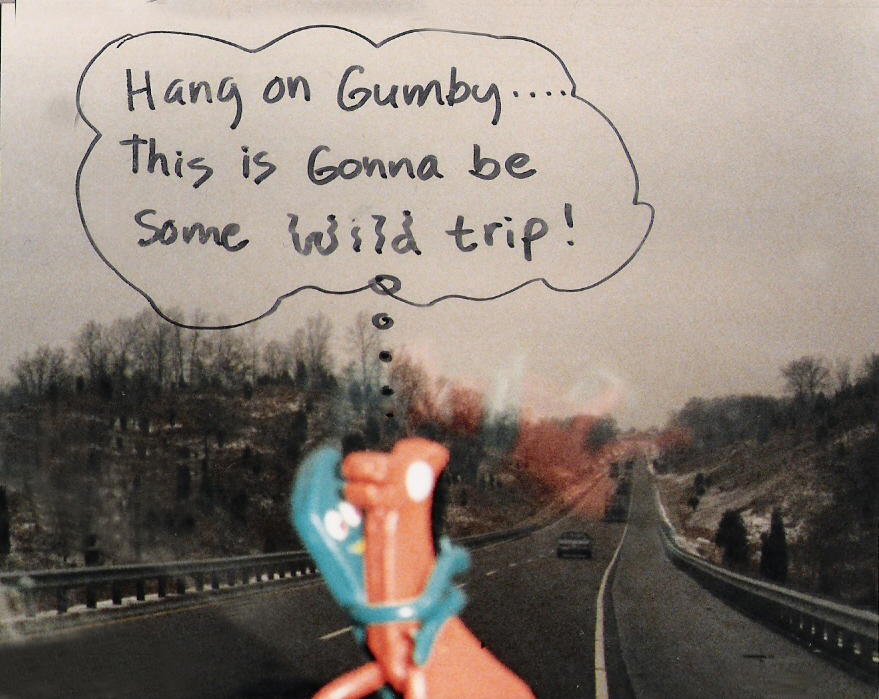 Gumby & Pokey hang on through the icy roads in Kentucky…