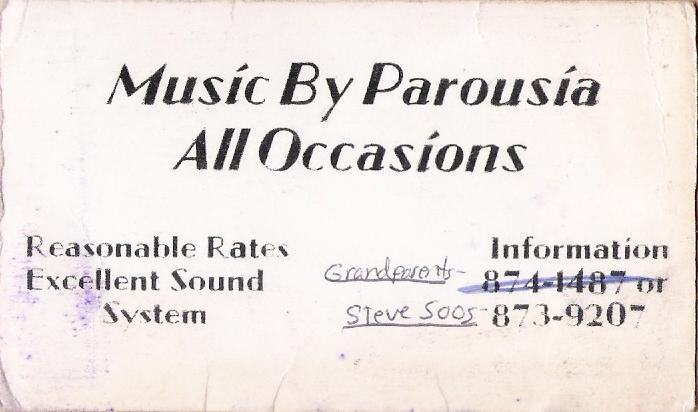 Parousia self managed- 1976