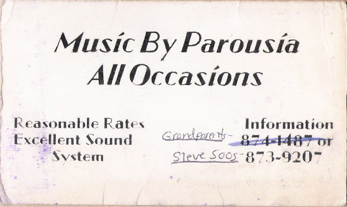 Parousia's 1st Business Card