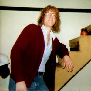 Eric Scheda at 'The Texas' Bar, VT. February 1982