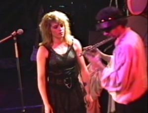 Patt Connolly and Claude - 'Virtual Reality' show at the Troubadour.  Halloween 1991