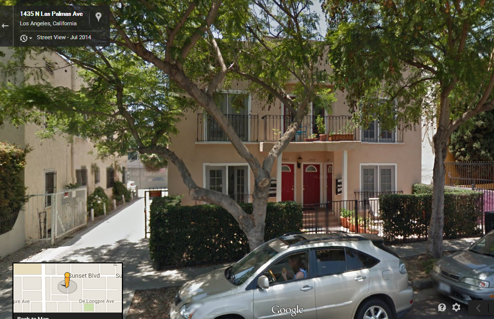 A current picture of 1435 Las Palmas, Los Angeles, CA. Looking way better than when we lived there back in 1987.
