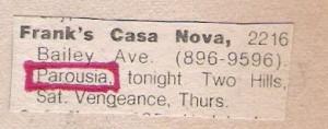 Frank's Casanova, 10.05.1979