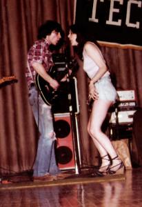 John McGovern & Vocalist Sharon Pierce - Hutch Tech May 1978