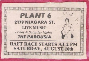 'The Parousia' Plant 6 -July12th 1980