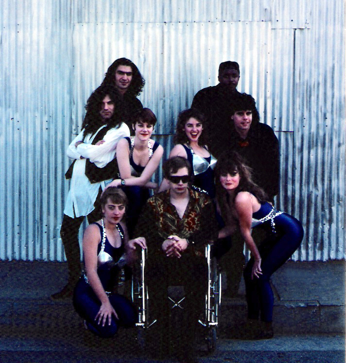 The Parousia Group 1990 - From left to right (Front): Claudine Regian, Patt Connolly, Karen Springer. (Mid back): Iain Hersey, Gina Raffel, Margaret Strickland and Gerry N. Cannizzaro. (Back): Jeremy Yeremian and Kenny Gray
