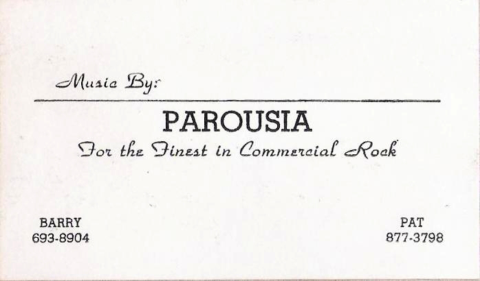 (2) Parousia Business Card 1976-1977