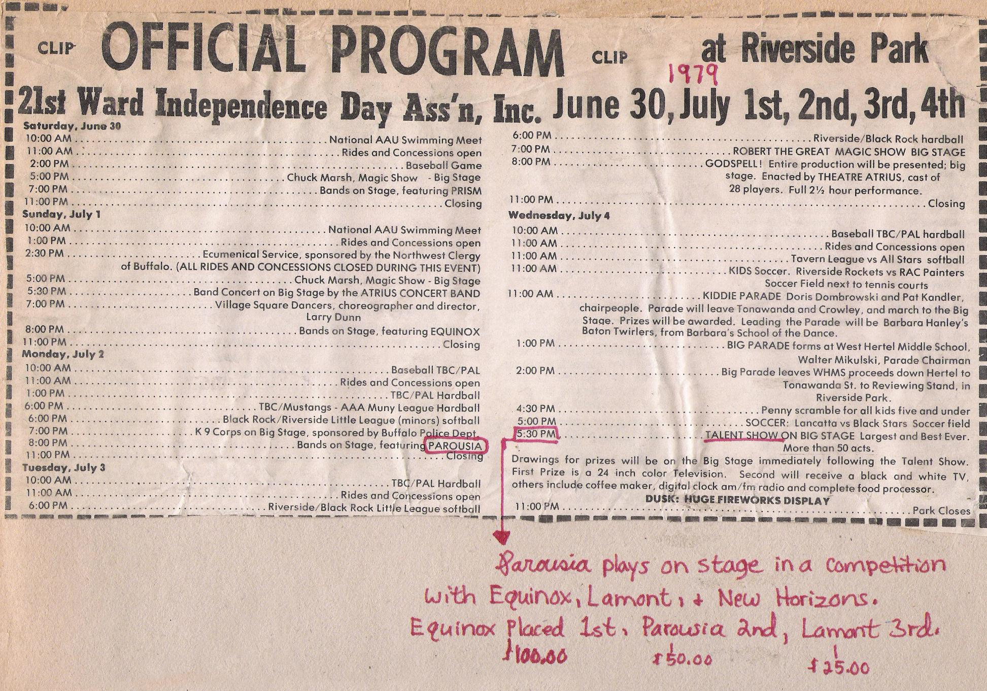(2) Riverside Review_Official 4th of July program 1979