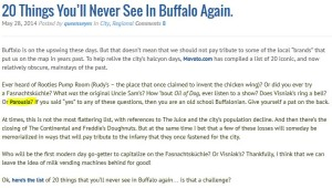 20 Things You'll Never See In Buffalo Again.