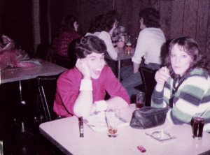 Hangin' out with Debbie Sekera at The Hollywood in Batavia NY. 12.31.1982