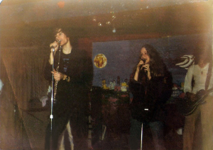 Parousia Front men & Front woman at McVan's, November 22, 1978