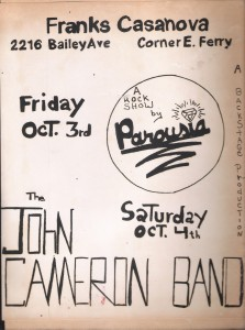Franks Casanova, Saturday October 4th, 1980 with John Cameron