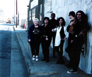 Manager Marianne Smith with the Parousia Group 1991