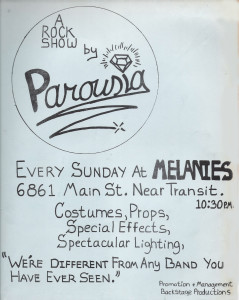 Parousia at Melanies 10.12.1980