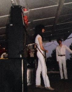 Gath Huels in concert at Riverside Park - June 30th 1984