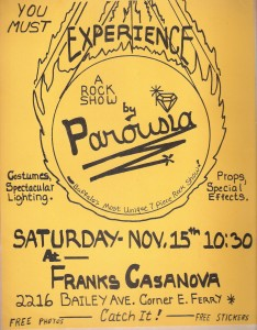 Frank's Casanova Flyer. 11.15.1980