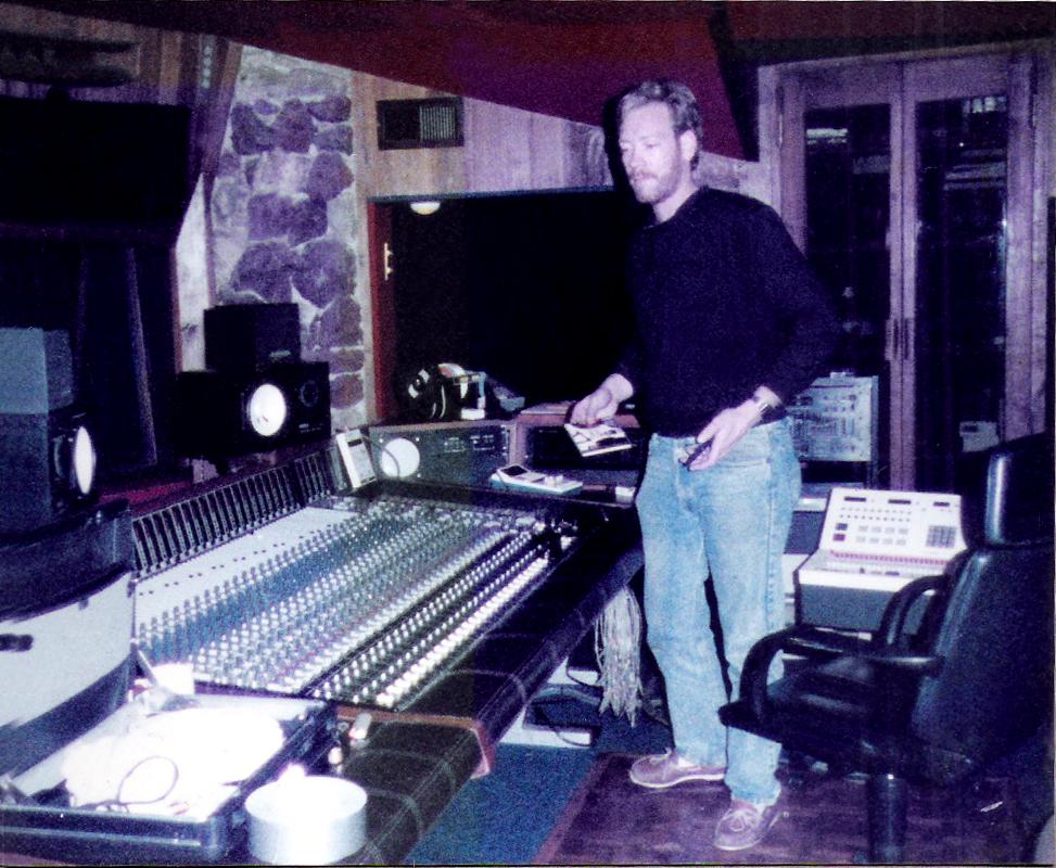 Eric Scheda at RUSK studios, 1988