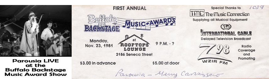 1981_ticket Buffalo backstage music awards Nov. 23 1981