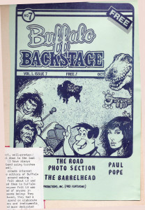 Buffalo Backstage Cover art_Oct. 1981