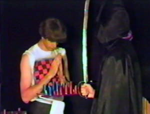 Patt begins a chess game with Death - August 1984