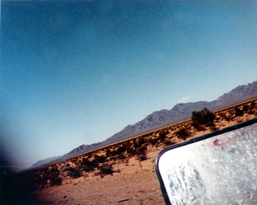 Across the desert plain