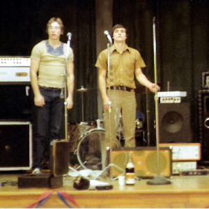 Left to right- John Sullivan (Roadie), John McGovern, - Black Rock Nov 1976