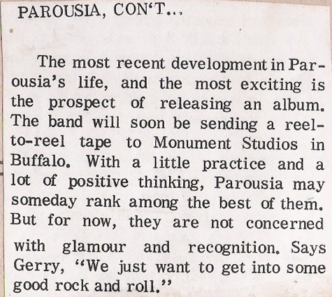 (Pt.2) Parousia- Student Prints. St. Joe's Newspaper 12.17.76
