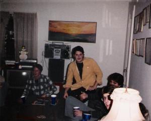 Steve McGran (middle) & friends Dec. 1984