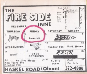 Fire Side Inn 12.04.1981