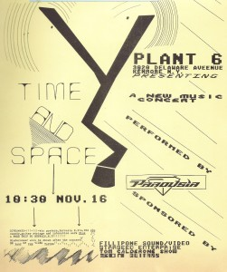 Flyer- Plant 6 -'Time & Space' 11.16.1985