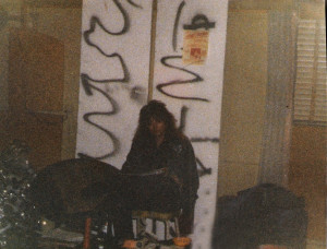 Nikki Sixx? No, it's Keith back in town at the Chamber, Sept. 1986 Buffalo, NY