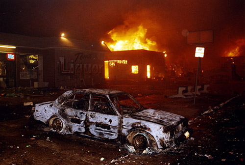 The L.A. Riots in South Los Angeles, 1989