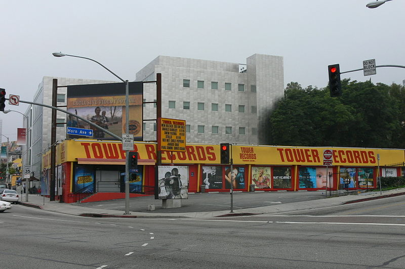 Tower Records Sunset Strip. West Hollywood, CA. 1989