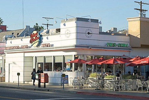 Johnny Rockets on Melrose Avenue in West Hollywood.