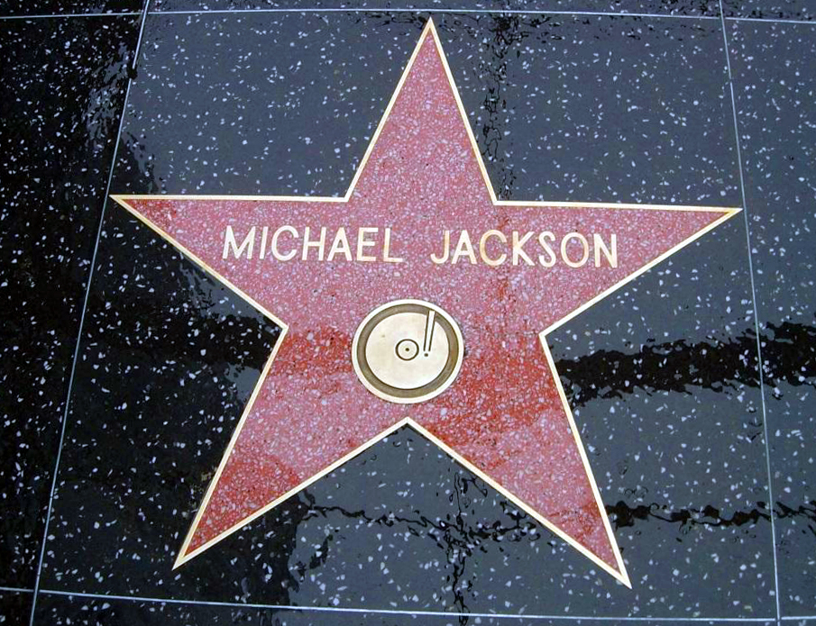 M.J.'s star on Hollywood in front of Grauman's Chinese Theatre.
