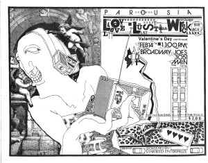 Love, Lust & Wreckage at Broadway Joes - Flyer 02.14.1986