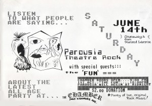 Flyer - the CHAMBER 06.14.1986