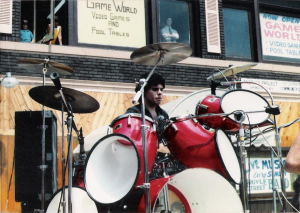 Gerry N. Cannizzaro with Parousia at the Hertel Happening August 1, 1981