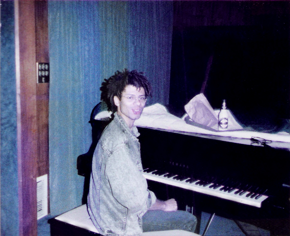 Robert Lowden on the Grand Piano at RUSK studios.