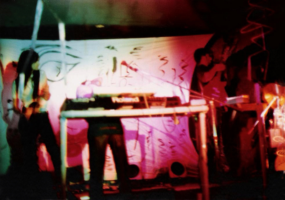 "Parousia performs the ""Art & Science"" show at the Plant 6. Sept. 7th, 1985"