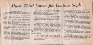 October1978 – Article on Parousia published in Canisius College, 'the Griffin' by Louise Brennen