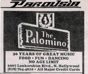 The Palomino 6907 Lankershim Blvd. N. Hollywood, CA 6.8.1988
